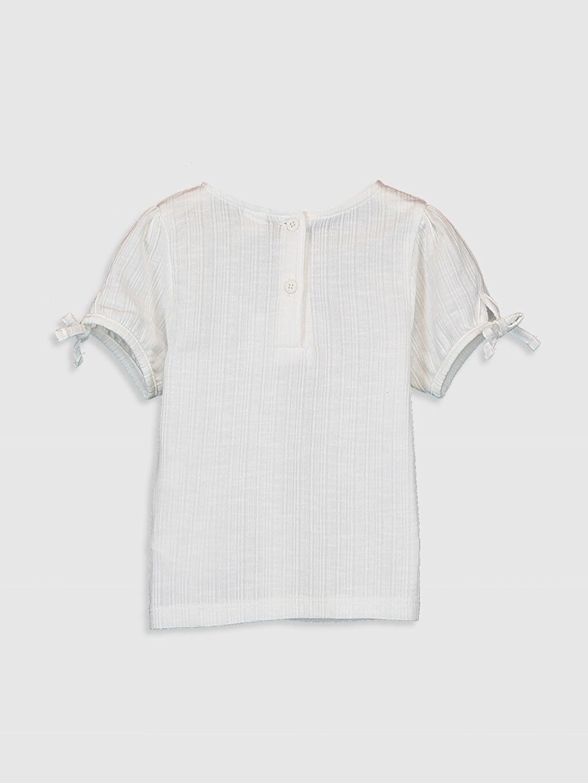%65 Pamuk %35 Polyester Standart Düz Kısa Kol Tişört Bisiklet Yaka Kız Bebek Basic Tişört