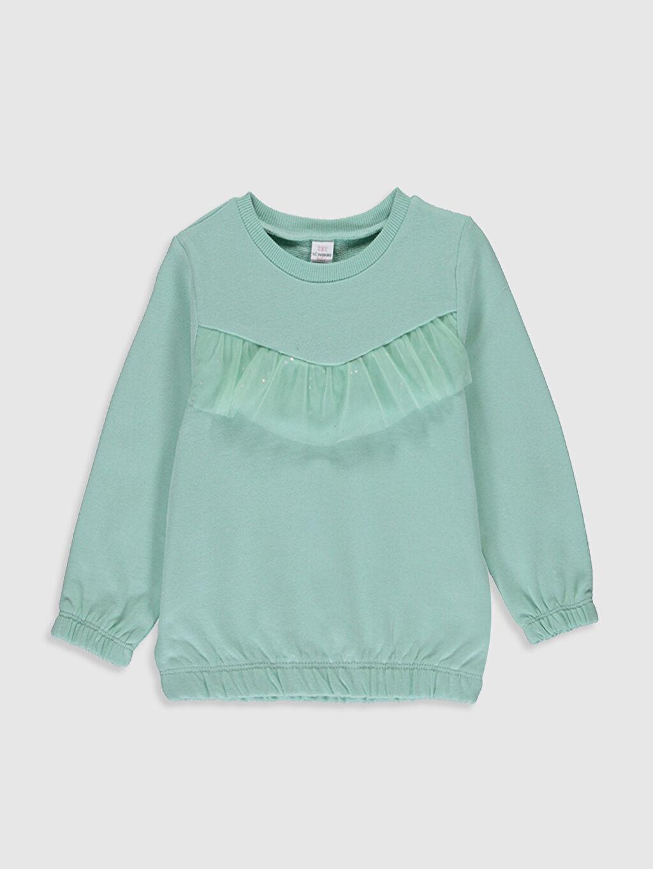 Yeşil Kız Bebek Kalın Sweatshirt 0SK060Z1 LC Waikiki