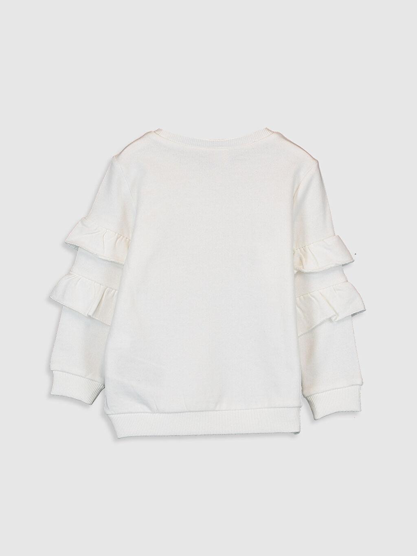 %100 Pamuk  Kız Bebek Yazı Basklı Sweatshirt