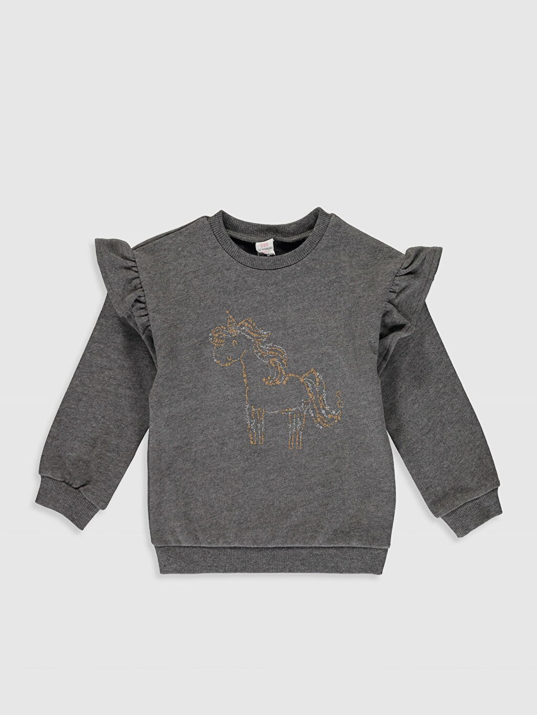 Antrasit Sweatshirt 0SK083Z1 LC Waikiki