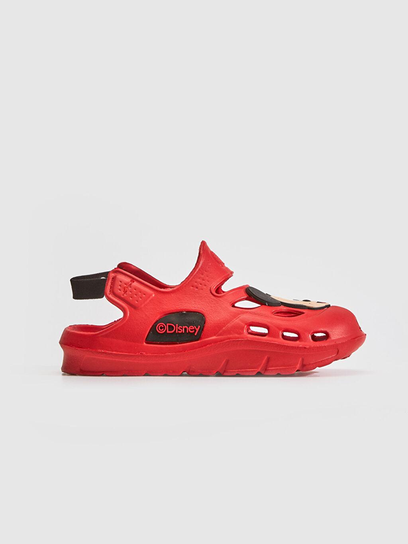 Kırmızı Erkek Bebek Mickey Mouse Sandalet 0SK707Z1 LC Waikiki