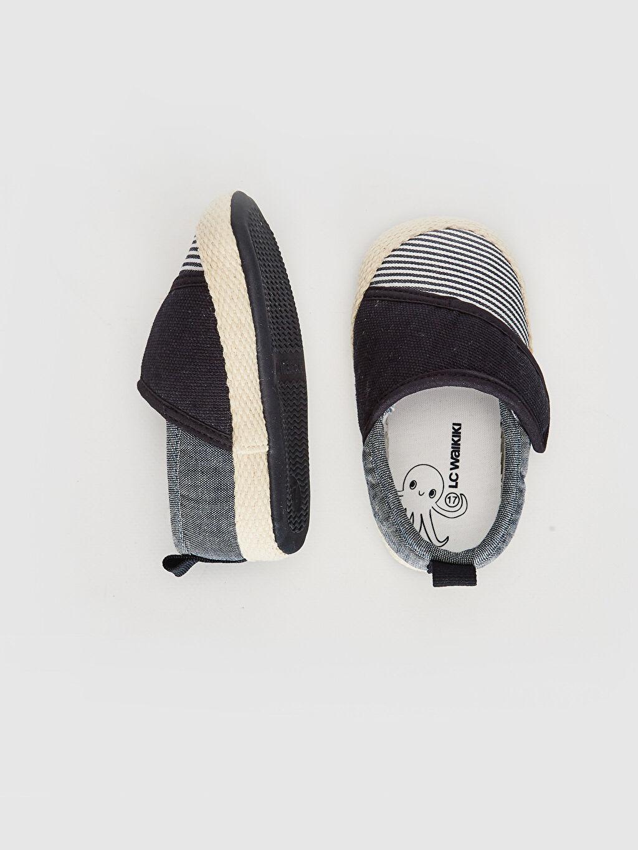 %0 Tekstil malzemeleri (%100 pamuk)  Erkek Bebek Cırt Cırtlı Yürüme Öncesi Ayakkabı