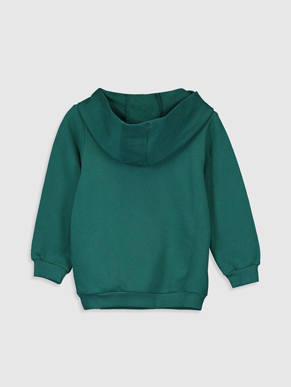 %100 Pamuk  Kız Bebek Minnie Mouse Baskılı Kapüşonlu Sweatshirt