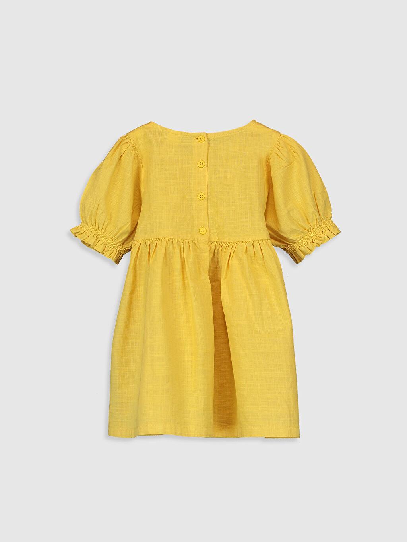 %100 Pamuk Düz Kız Bebek Basic Poplin Elbise