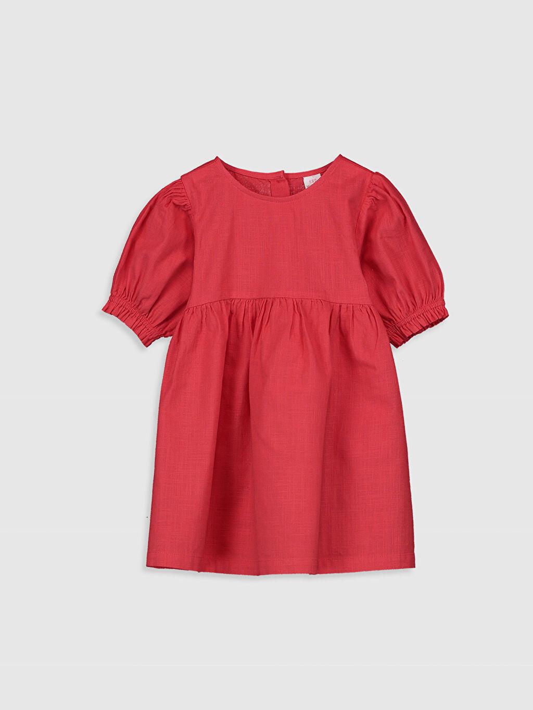 Kırmızı Kız Bebek Basic Poplin Elbise 0SK942Z1 LC Waikiki