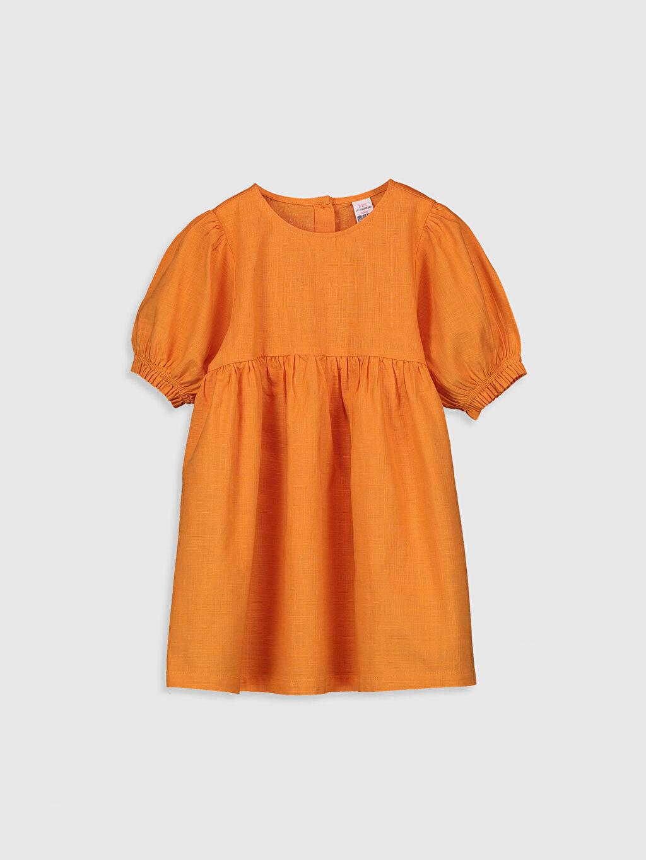 Turuncu Kız Bebek Basic Poplin Elbise 0SK942Z1 LC Waikiki