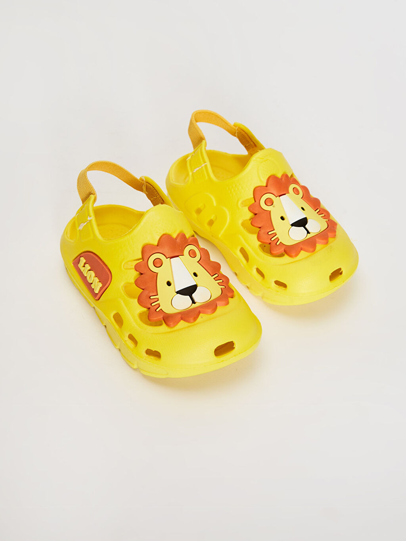 Sarı Erkek Bebek Aslan Detaylı Sandalet 0SL389Z1 LC Waikiki
