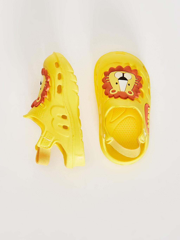 Erkek Bebek Erkek Bebek Aslan Detaylı Sandalet
