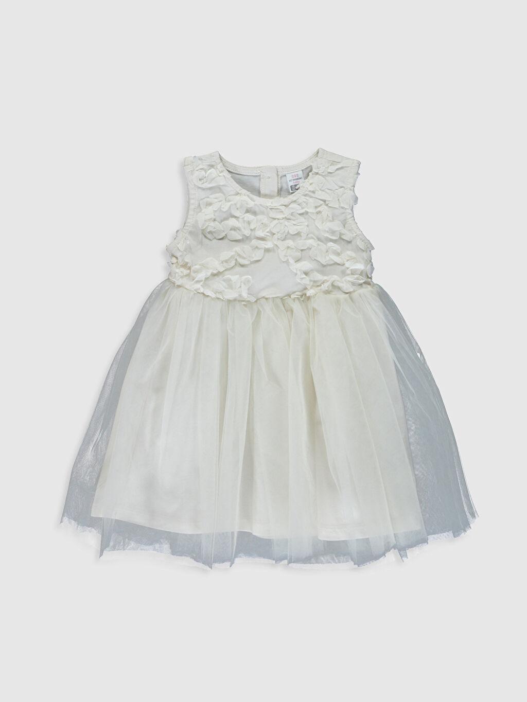 Ekru Kız Bebek Tül Elbise 0SL397Z1 LC Waikiki