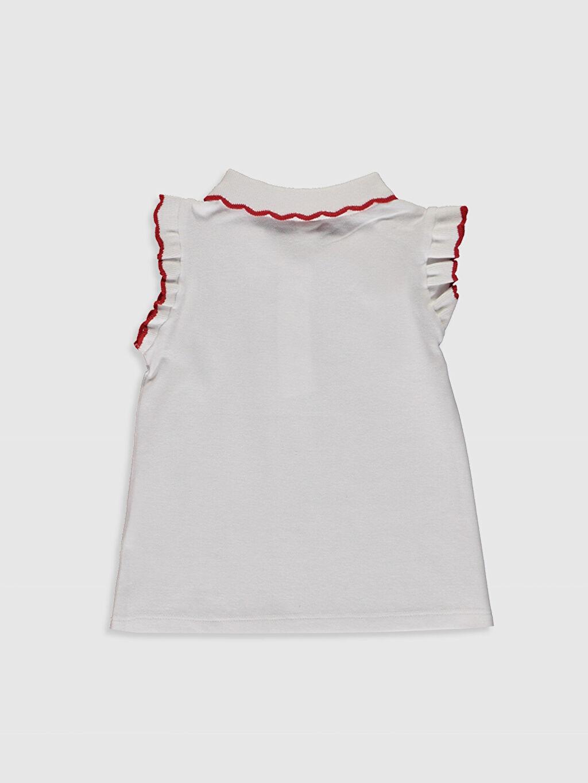 %100 Pamuk Standart Düz Kısa Kol Tişört Polo Kız Bebek Polo Yaka Tişört