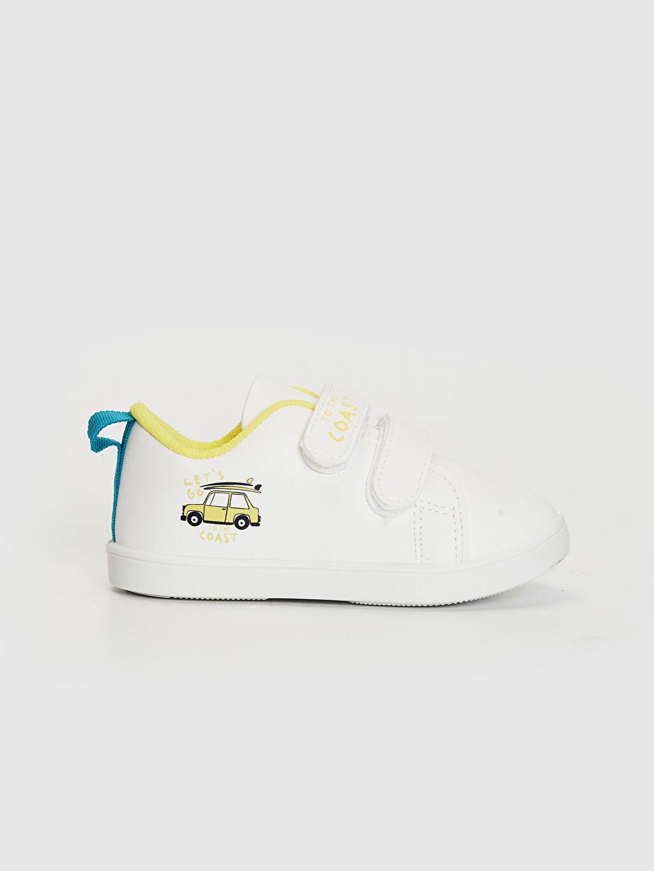 Beyaz Erkek Bebek Cırt Cırtlı Günlük Spor Ayakkabı 0SL420Z1 LC Waikiki