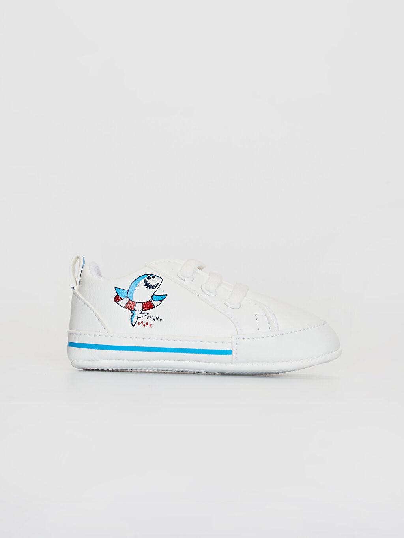 Beyaz Erkek Bebek Yürüme Öncesi Ayakkabı 0SL698Z1 LC Waikiki