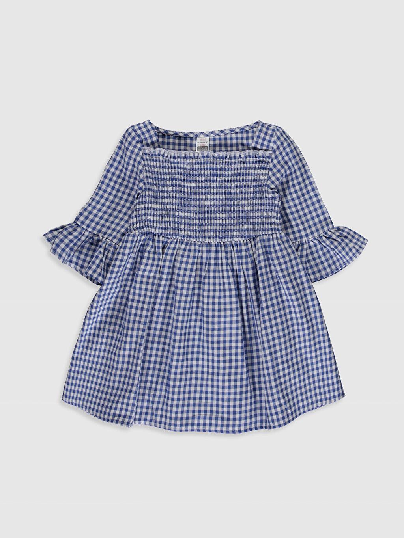 Mavi Kız Bebek Ekose Twill Elbise 0SM136Z1 LC Waikiki