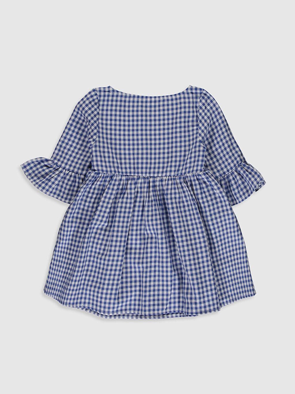 %100 Pamuk Ekoseli Kız Bebek Ekose Twill Elbise