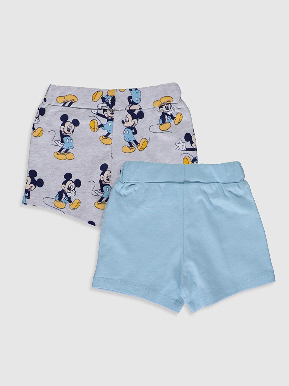 %100 Pamuk  Erkek Bebek Disney Baskılı Şort 2'li