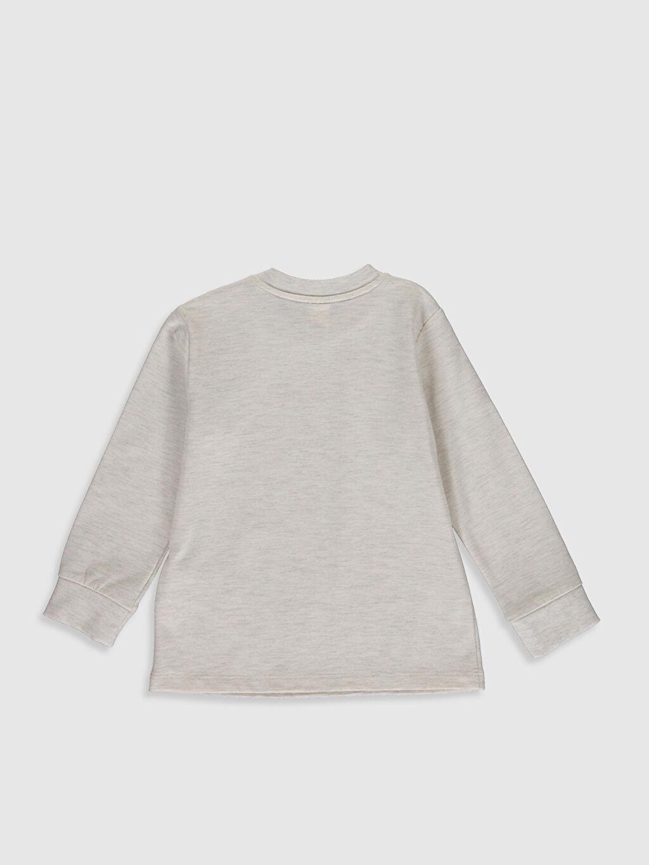 %48 Pamuk %48 Polyester %4 Elastan Normal Düz Uzun Kol Tişört Bisiklet Yaka Erkek Bebek Basic Tişört