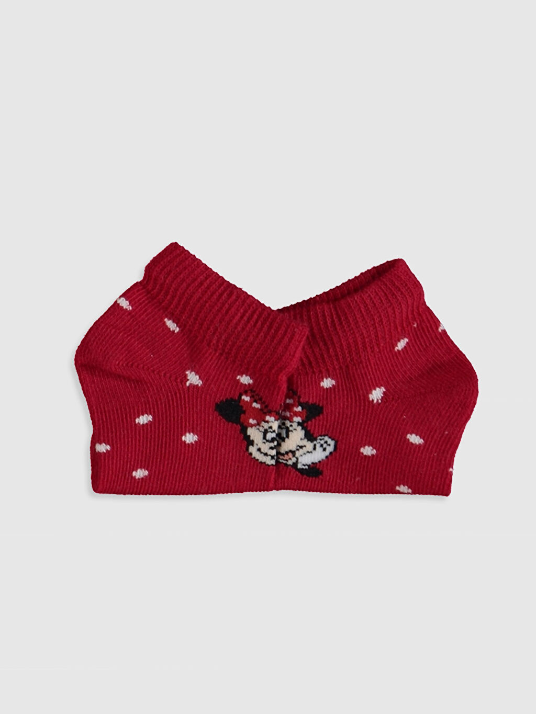 Kız Bebek Kız Bebek Minnie Mouse Baskılı Patik Çorap 3'lü