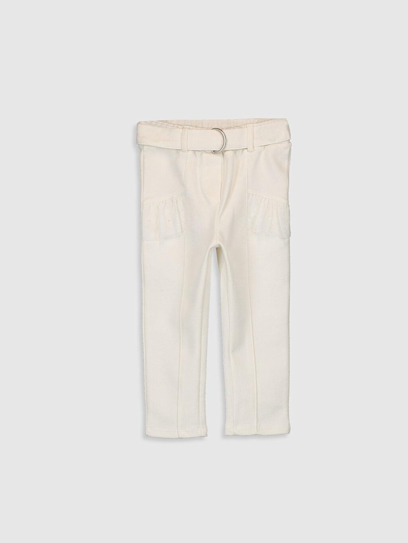 Ekru Kız Bebek Pantolon 0SN066Z1 LC Waikiki
