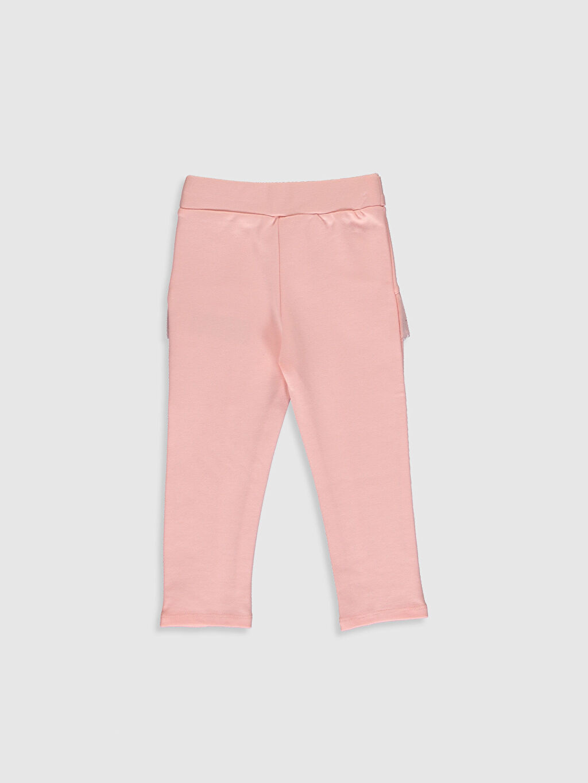 %66 Pamuk %30 Polyester %4 Elastan  Kız Bebek Pantolon