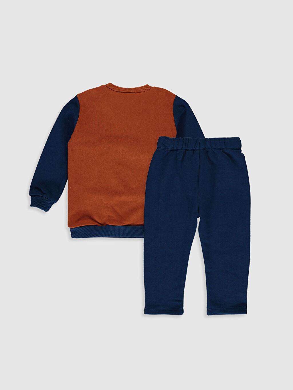 %87 Pamuk %13 Polyester  Erkek Bebek Sweatshirt ve Eşofman Alt 2'li
