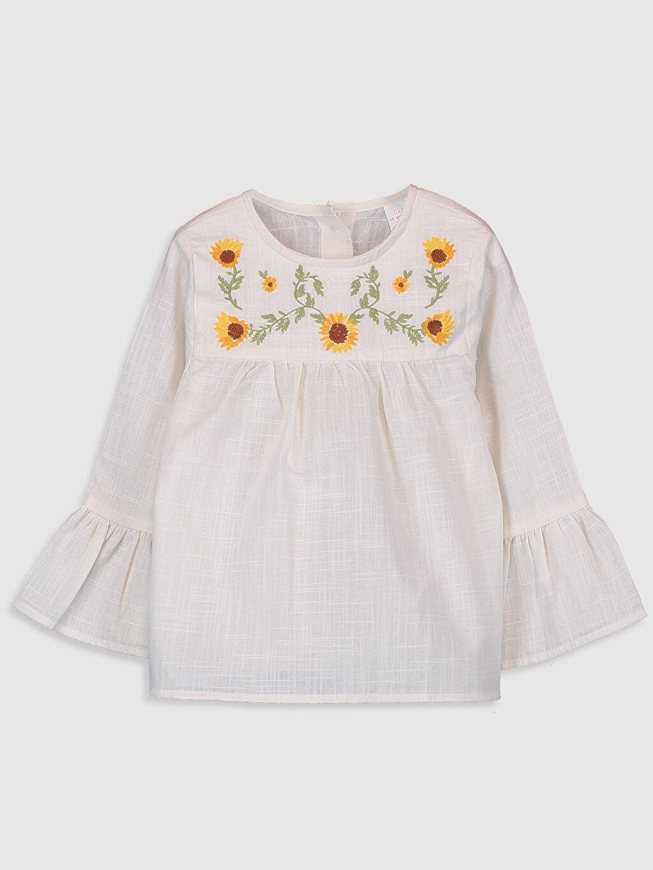 Ekru Kız Bebek Desenli Bluz 0SN190Z1 LC Waikiki