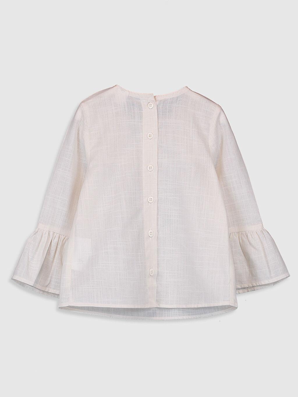 %100 Pamuk Standart Desenli Uzun Kol Bluz Kız Bebek Desenli Bluz