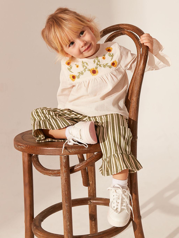 Kız Bebek Kız Bebek Desenli Bluz