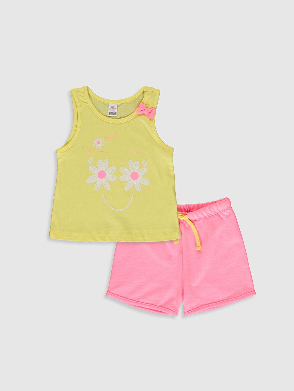 Sarı Kız Bebek Tişört ve Şort 0SN208Z1 LC Waikiki