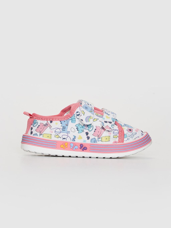 Çok Renkli Kız Bebek Cırt Cırtlı Günlük Ayakkabı 0SN230Z1 LC Waikiki