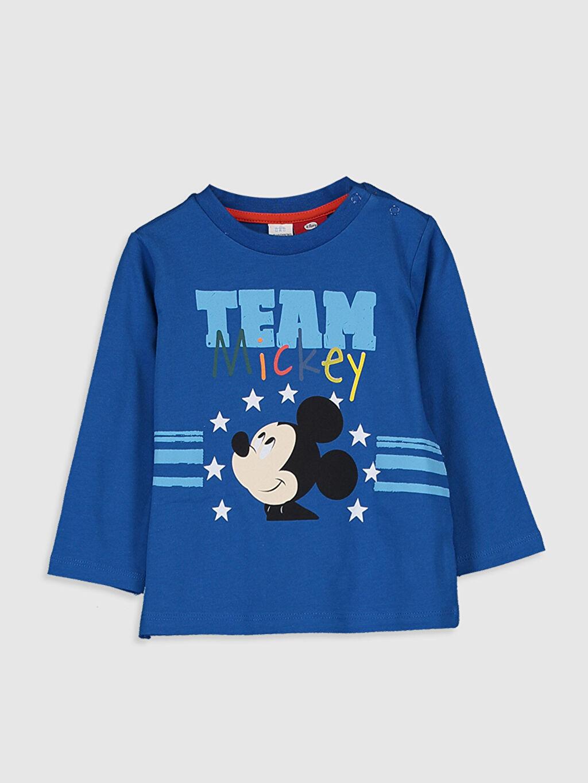 Mavi Erkek Bebek Mickey Mouse Baskılı Tişört 0SN254Z1 LC Waikiki