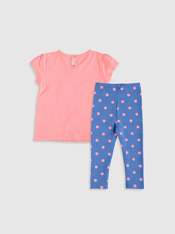 %47 Pamuk %49 Polyester %4 Elastan %50 Pamuk %50 Polyester  Kız Bebek Baskılı Tişört ve Tayt
