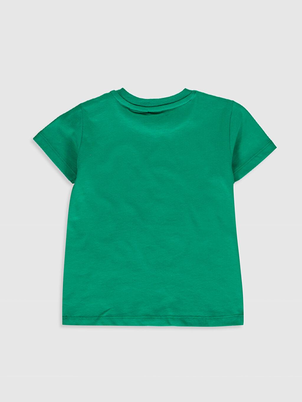 %100 Pamuk Baskılı Normal Bisiklet Yaka Kısa Kol Tişört Erkek Bebek Mickey Mouse Baskılı Tişört