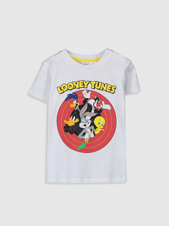 Beyaz Erkek Bebek Looney Tunes Baskılı Tişört 0SN533Z1 LC Waikiki