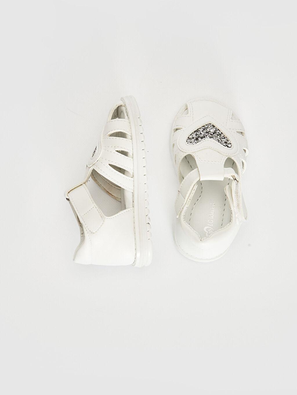 %0 Diğer malzeme (poliüretan)  Kız Bebek Cırt Cırtlı Sandalet