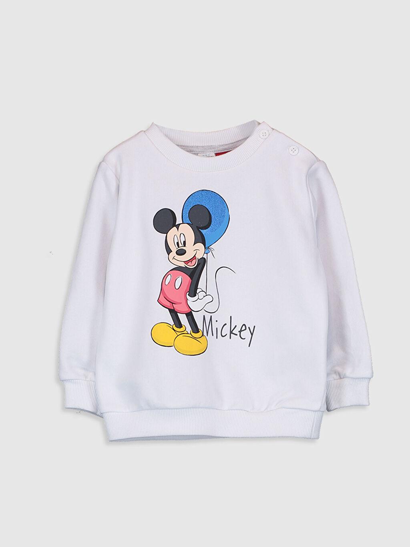 Beyaz Erkek Bebek Mıckey Mouse Sweatshirt 0SN835Z1 LC Waikiki