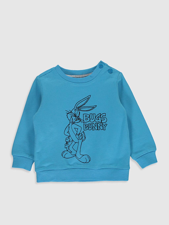 Erkek Bebek Erkek Bebek Bugs Bunny Desenli Sweatshirt ve Pantolon