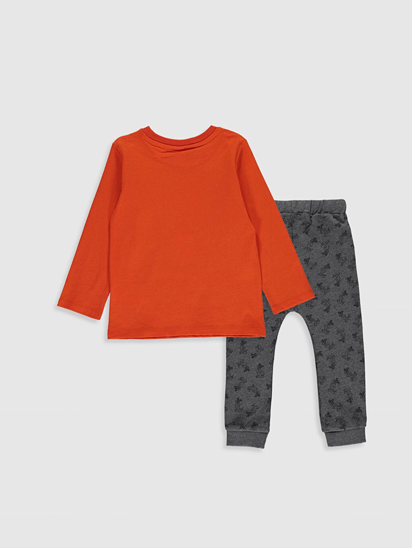 %100 Pamuk  Erkek Bebek Looney Tunes Baskılı Tişört ve Pantolon