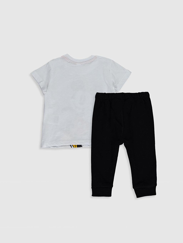 %100 Pamuk %85 Pamuk %15 Polyester  Erkek Bebek Mickey Mouse Baskılı Tişört ve Pantolon