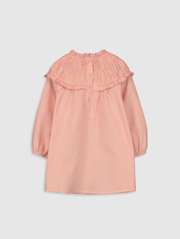 %100 Pamuk Düz Kız Bebek Poplin Elbise