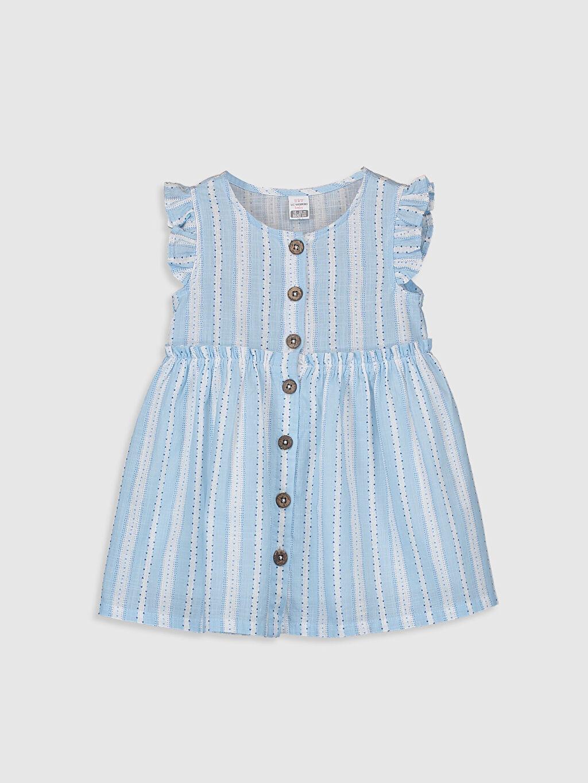Mavi Kız Bebek Desenli Elbise 0SO621Z1 LC Waikiki