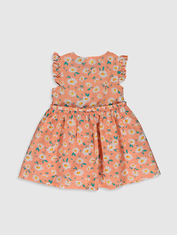 %100 Pamuk %100 Pamuk Uzun Desenli Kız Bebek Desenli Elbise
