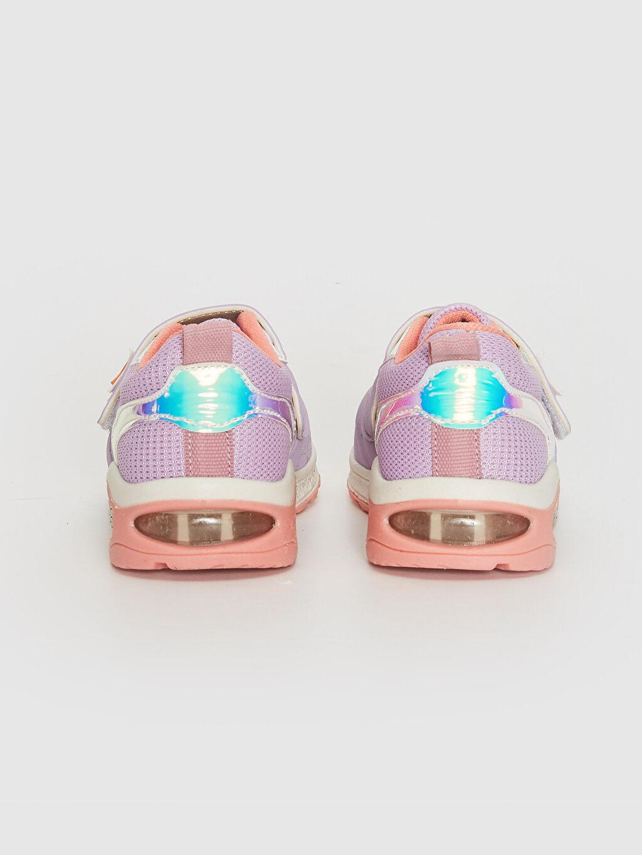 Kız Bebek Kalın Taban Hologram Detay Cırt Cırtlı Günlük Ayakkabı