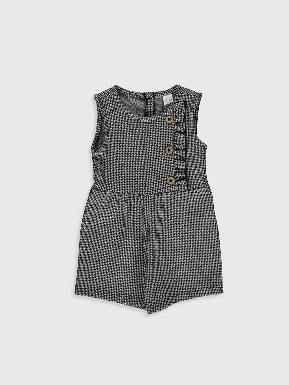 Siyah Kız Bebek Şort Salopet 0SA080Z1 LC Waikiki