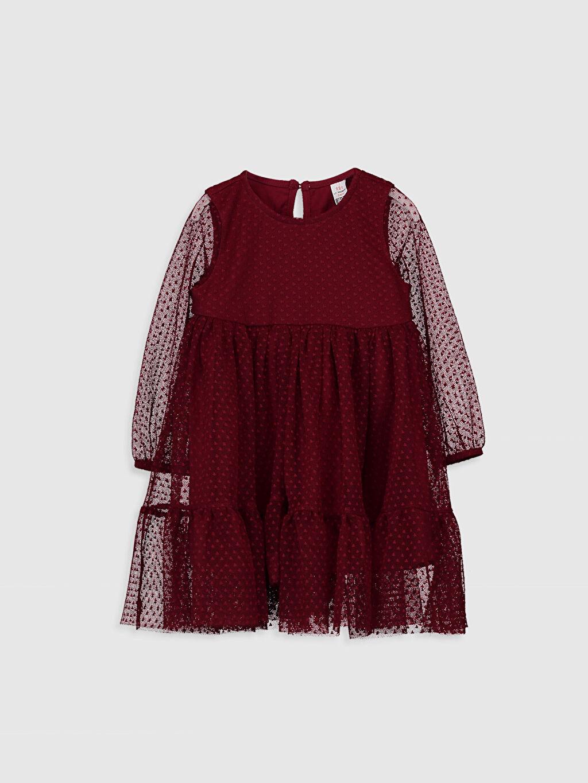 Bordo Kız Bebek Tül Elbise 0SA315Z1 LC Waikiki