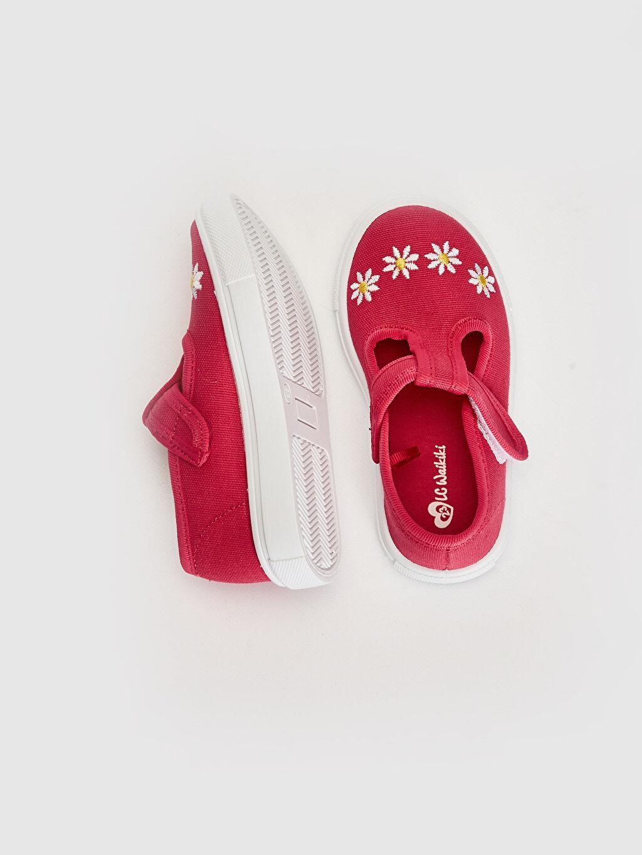 %0 Tekstil malzemeleri (%100 poliester)  Kız Bebek Nakış Detaylı Babet Ayakkabı