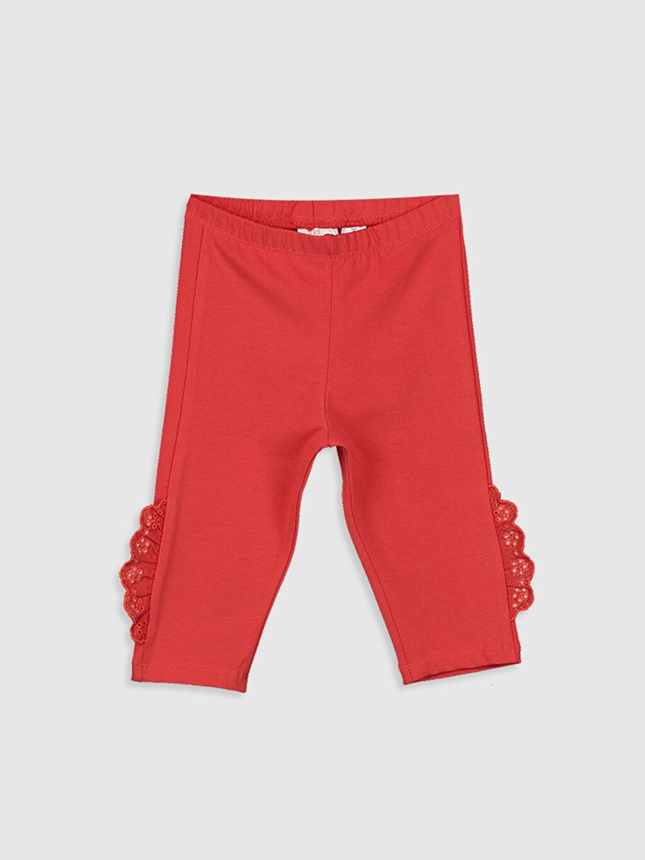 Kırmızı Kız Bebek 3/4 Boy Tayt 0SA575Z1 LC Waikiki