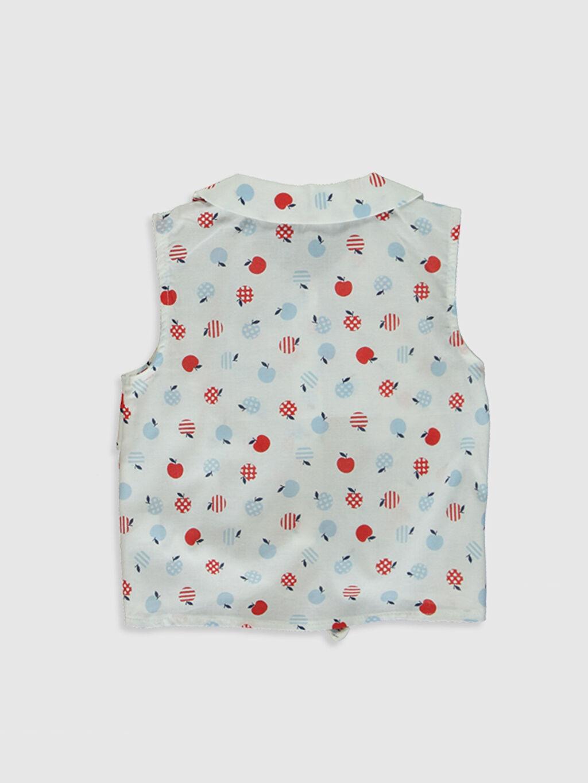 %100 Pamuk  Kız Bebek Baskılı Gömlek