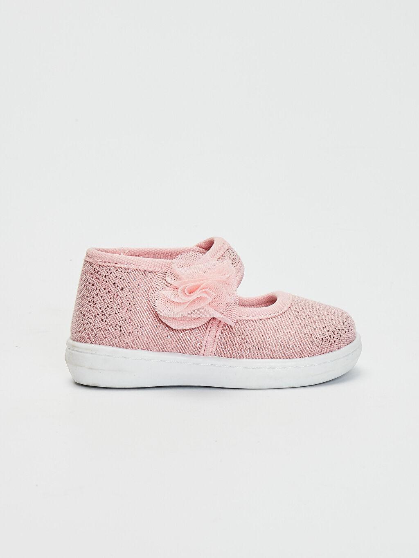 Pembe Kız Bebek Cırt Cırtlı Babet Ayakkabı 0SB133Z1 LC Waikiki