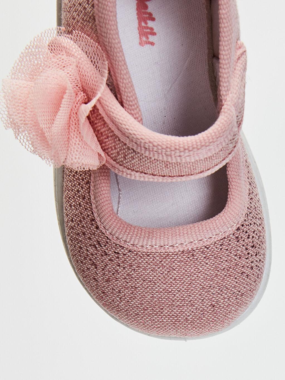 LC Waikiki Pembe Kız Bebek Cırt Cırtlı Babet Ayakkabı