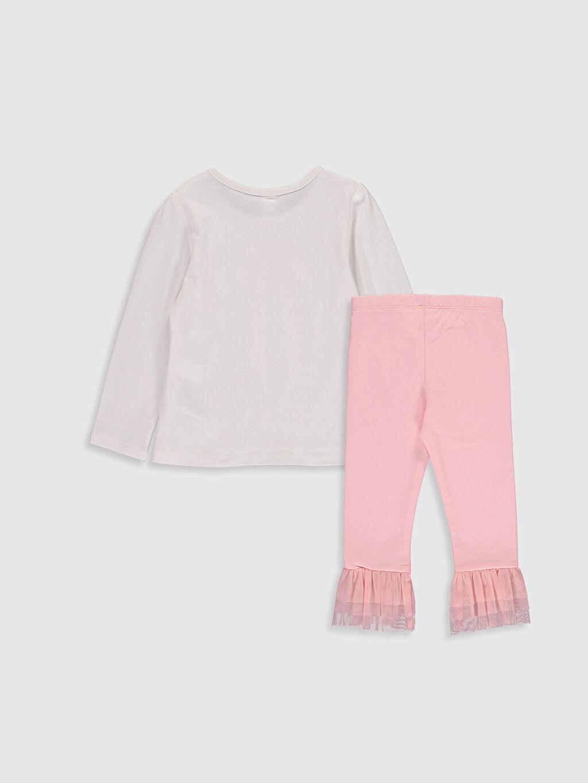 %100 Pamuk  Kız Bebek Baskılı Pijama Takımı
